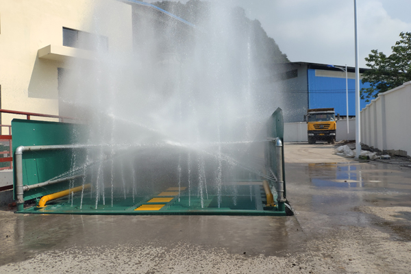 大型钢厂自动洗车机