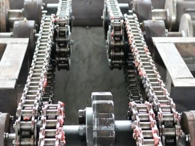 建筑工地洗轮机链条能够耐用多久?[鲁企环科]